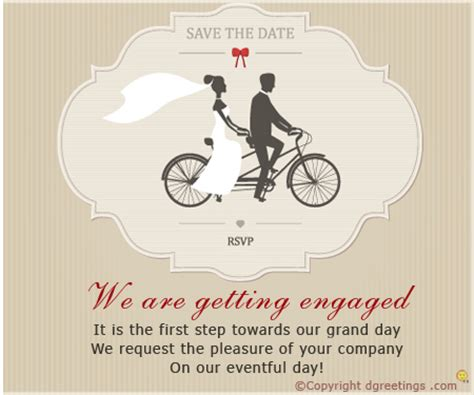 Engagement Invitation Card