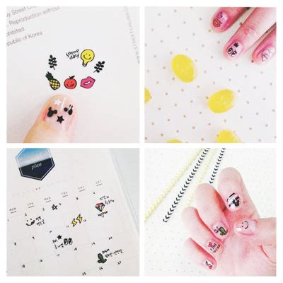Suatelier Line Diary Deco Stickers Sticker Hiasan Buku buy kawaii suatelier deco line nail seal stickers at artbox