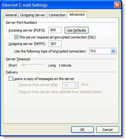 how to setup gmail with outlook 2007 gmail configuration