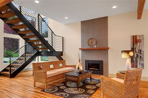 sitting room seattle stairwell sitting area contemporary living room seattle by sundodger llc