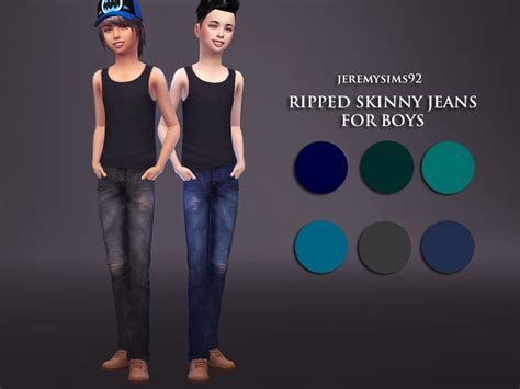 child sims 3 jeans jeremy sims92 s boy s ripped skinny jeans