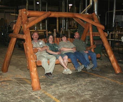Cedar Lake Massive Cedar Log Swing