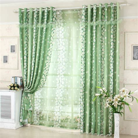 floral blackout curtains green floral blackout curtains for mordern living room