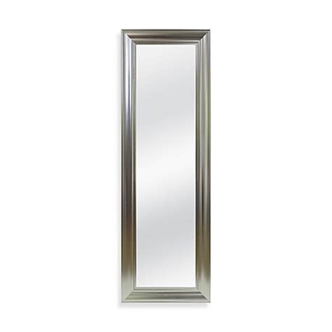 Bathroom Door Mirrors No Tools The Door Mirror In Brushed Nickel Bed Bath Beyond