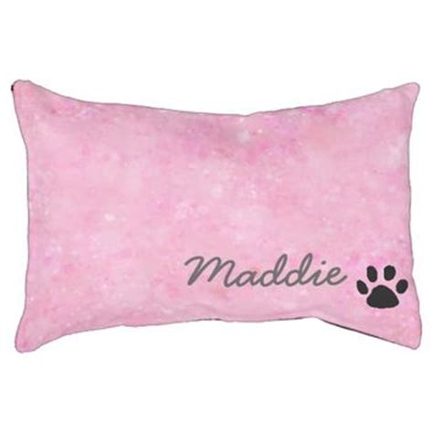girly dog beds girly pink with name and paw print from zazzle unique
