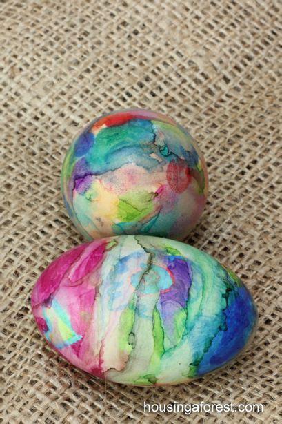 Mit Kindern Basteln Weihnachten 2440 by Unique Way To Dye Easter Eggs Sharpie Tie Dye Ostern