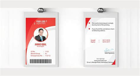 Employee Id Card Template Psd by 13 Identity Card Designs Design Trends Premium Psd