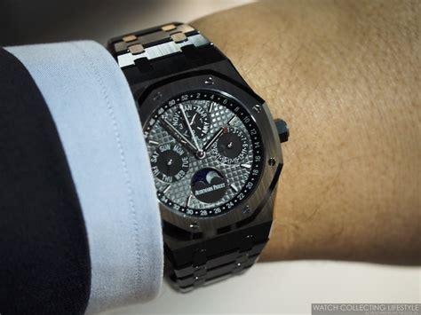 ap black themes review sihh 2017 audemars piguet perpetual calendar black