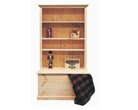 combination bookcase with box