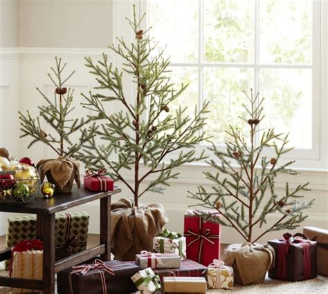 indoor decorative trees for the home glass window minimalist christmas trees indoor decor ideas