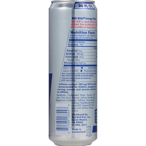 energy drink information bull nutrition information nutrition ftempo