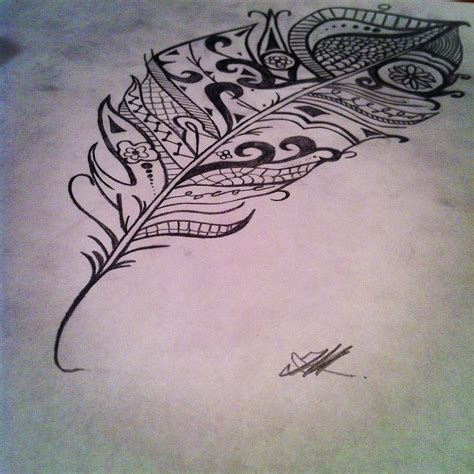 tribal feathers tattoos tribal feather i drew getting this in a month or