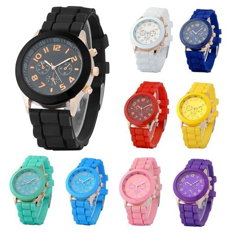 colorful watches colorful unisex silicone jelly quartz analog