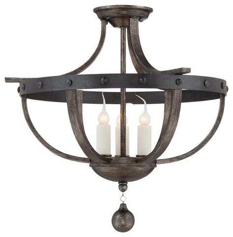 Rustic Ceiling Lights Savoy Alsace Semi Flush Light Rustic Flush Mount Ceiling Lighting By We Got Lites