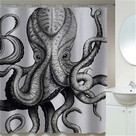 anthropologie octopus shower curtain shop octopus shower curtain on wanelo