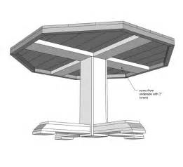 Octagon Patio Table Plans 25 Best Ideas About Octagon Table On Octagon Picnic Table Folding Picnic Table