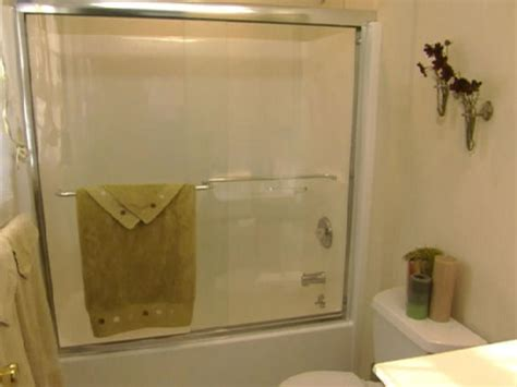 how to install a bathtub door install glass shower doors hgtv
