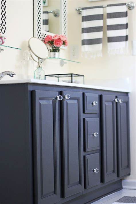 paint bathroom cabinets black my painted bathroom vanity before and after two delighted