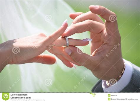 Wedding Ring Exchange Clipart by Exchange Of Wedding Rings Royalty Free Stock Photos