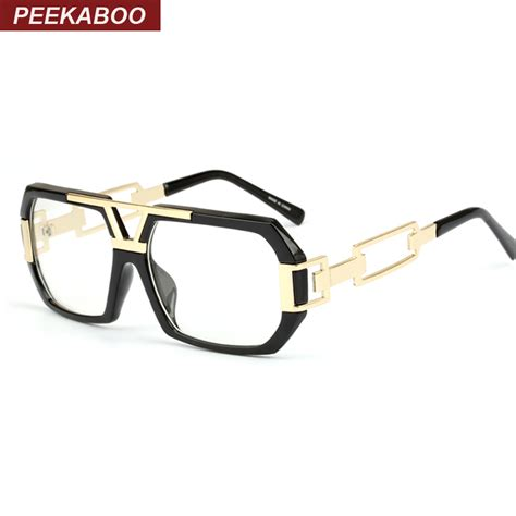 frame design eyeglasses newest stylish brand square frame glasses optical male