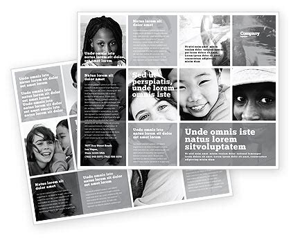 black brochure template in black and white colors brochure template design