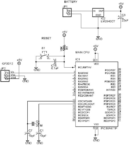 mclr resistor value pic16f877a reset circuit