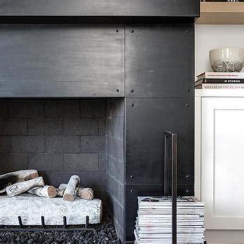 white fireplace mantel  white marble herringbone tiles