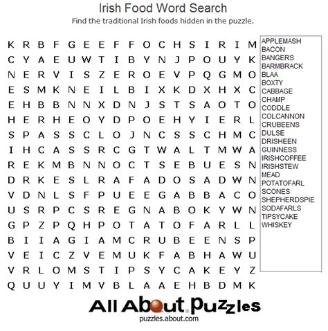 printable irish word search where to find free crossword puzzles online word search