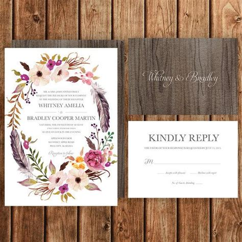 Bohemian Wedding Invitations bohemian wedding invitation pink magenta blush
