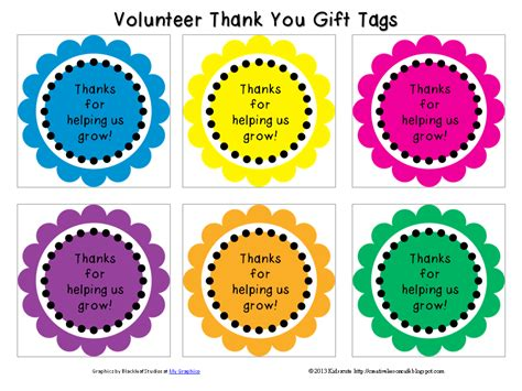 printable volunteer tags creative lesson cafe classroom volunteer gifts and a