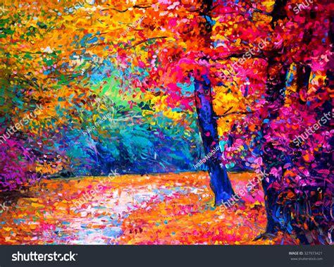 Original Painting On Canvasautumn Landscapemodern Original Painting On Canvas Autumn Landscape Modern