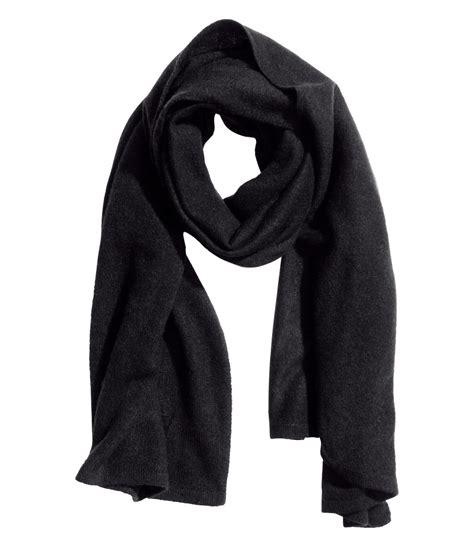 h m scarf in black lyst