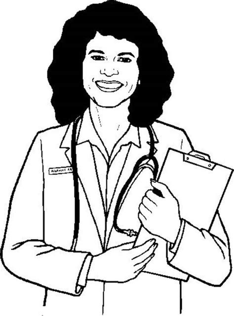 woman doctor coloring page batch coloring