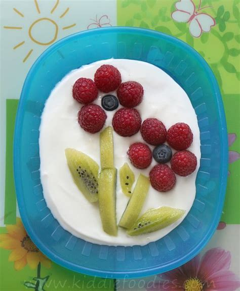 easy fresh fruit dessert recipes raspberry and kiwi flowers easy dessert recipe kid snacks flower and kid