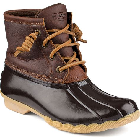 sperry s saltwater duck boot womens boots