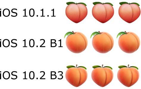 emoji evolution apple reintroduces butt like peach emoji in ios 10 2 beta