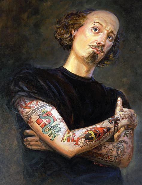 tattooed shakespeare painting by mathew mcfarren