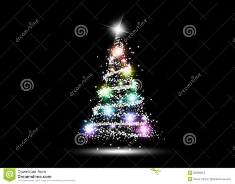 colorful glowing christmas tree stock photography image