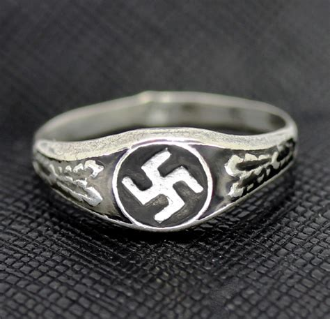 Rings For Sale by German Ss Ring Swastika Silver Ring For Sale