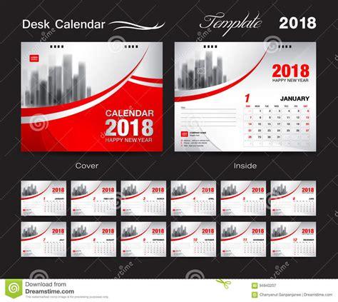 Calendar 2018 Desk Designer Desk Calendar 2018 Template Design Cover Set Of 12