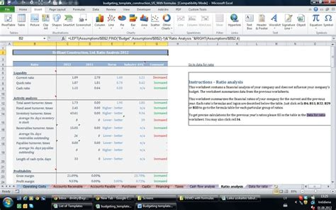 formatted Small business  accounting excel templates