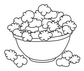 bowl popcorn coloring page coloring pages