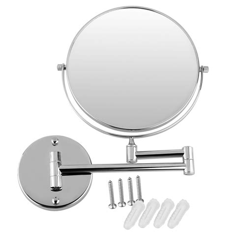 wall mounted extendable mirror bathroom 8 two sided magnifying wall mounted swivel make up