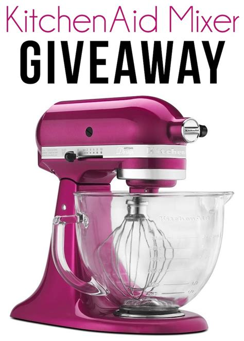 Giveaway Kitchen - pink kitchen aid giveaway