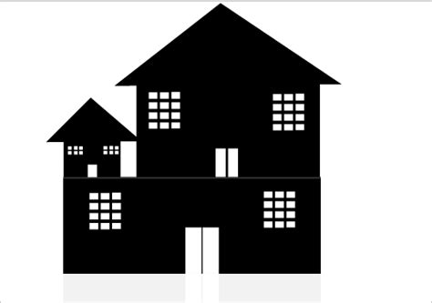 house silhouette individual house silhouette for skyline illustration silhouette graphics