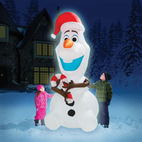 Home Depot Decorator by The 8 Inflatable Olaf Hammacher Schlemmer