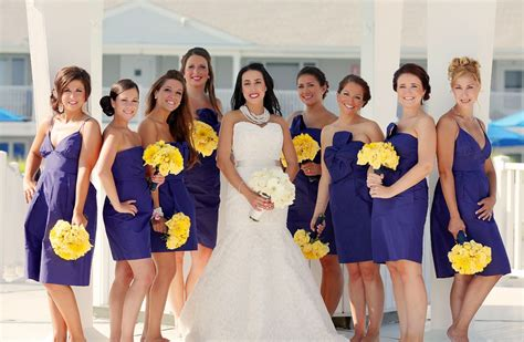 Bridesmaid Bouquet Yellow by Purple Bridesmaid Dresses Yellow Bouquets