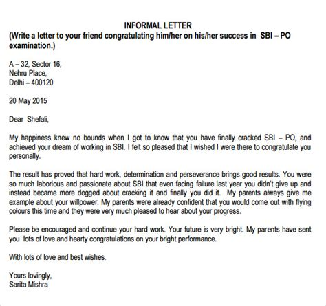 Email Cover Letter Informal How To Write A Informal Letter In Format Cover