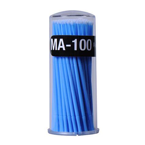 Kuas Mini kuas mini pembersih maskara bulu mata 100 pcs blue