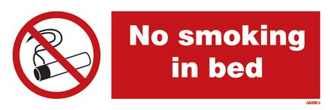 smoking in bed lalizas imo signs no smoking in bed